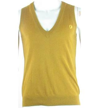 "BNWT Ben Sherman Size: 34"" Chest Mustard Yellow  Knitted Vest"