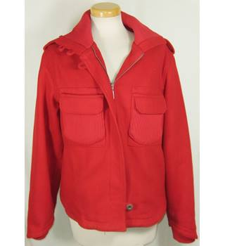 Spoon - Size: 40 - Red - Casual  bomber jacket