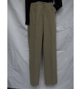 Marilyn Haslam for Hobbs Florence Check Trousers - Size 10