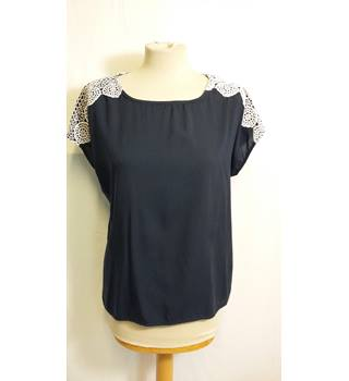 Next (made with love) size 14 navy with white lace top