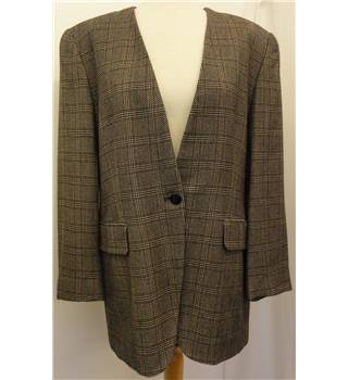 Rena Rowan for Saville Size:10 brown chequered design coat