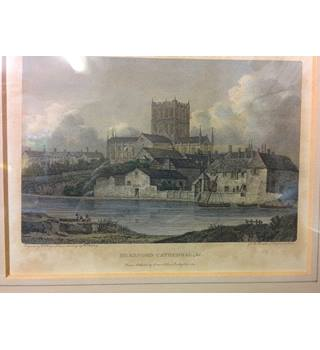 PRINT - Hereford Cathedral, 1805 by