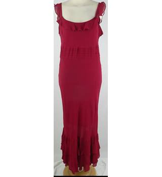 Laura Ashley - Size: 12 - Red - Silk Evening dress