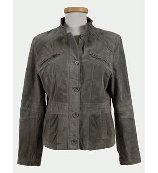 Style COLLECTION - Size: 16 - Green -  Leather - Ladies Jacket