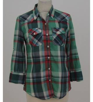 Superdry size small  green and red checked shirt