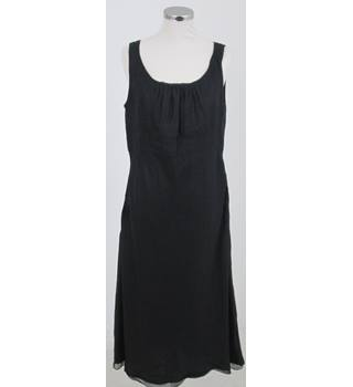 Land's End Size:12 black sleeveless linen dress