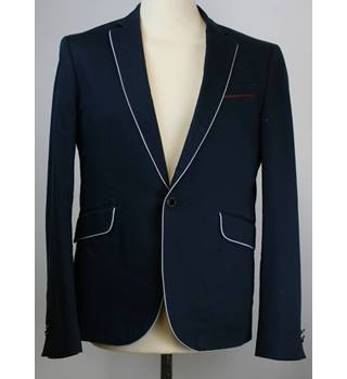"Selected Homme - Size: 38"" chest navy blue blazer"