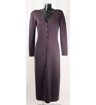 Country Casuals Long Cardigan - Metallic Plum - Size M (approx. Size 10/12) Country Casuals - Size: M - Metallics