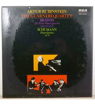 Brahms - The Three Piano Quartets / Schumann - Piano Quintet Op 44 - Artur Rubenstein, The Guarneri Quartet - SER 5628/30