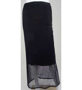 PLEIN FUTUR PARIS Black Calf-Length Skirt NO Size but Waistband Measures 32""