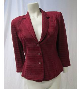 Minuet Size 12 Red Textured Jacket Minuet - Size: 12 - Red