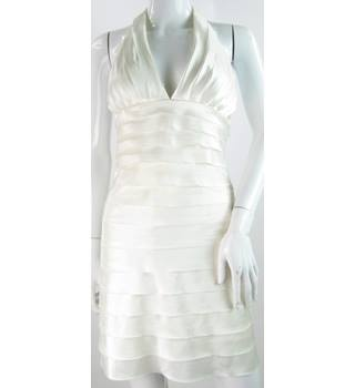 Morgan & Co - Size: 8 - White - Halter-neck dress