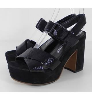 Kennel & Schmenger Black Platform Sandals  Size UK 3.1/2 Eur 36