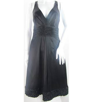 Coast - Size: 12 - Black - Silk Mix - Cross Back Dress