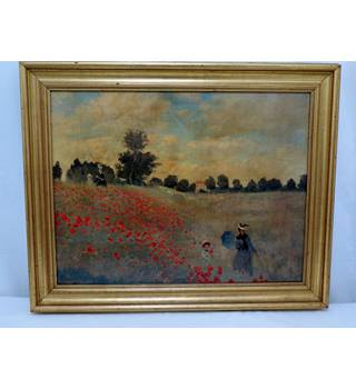 Monet: Corn Poppies. Print on Canvas