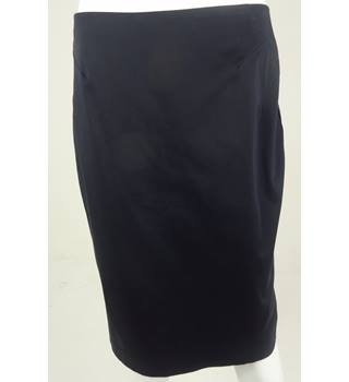 Marks & Spencer Collection Navy Knee-Length Skirt UK Size 12 / Euro Size 40