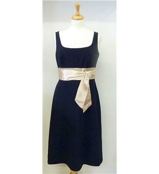 M&S Autograph size 12 black with gold band dress