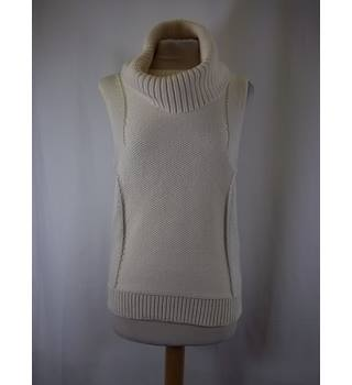 Armani Exchange - Size: XS - Cream / ivory - sleeveless turtleneck Pullover