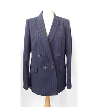 M&S NAVY PIN STRIPE BLAZER