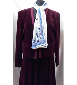 St Michael - Size: 16 - Red - Skirt suit