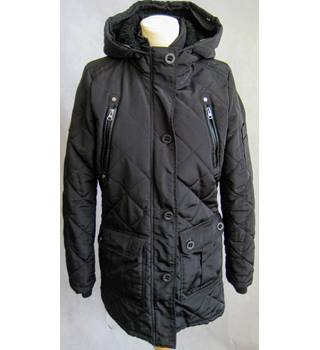 Brave Soul black hooded padded jacket size 10/S Brave Soul - Size: S - Black - Casual jacket / coat