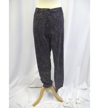 Epilogue - Size: 18 - Black and Grey - Paisley Patterned - Trousers