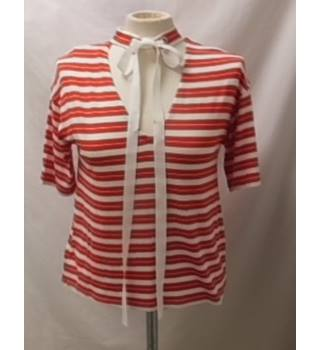 M&S Limited Edition red and white top, size 8