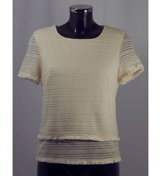 M&S Collection Top - Cream - Size M (approx. Size 10/12) M&S Marks & Spencer - Size: M - Cream / ivory