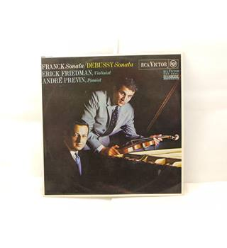 Franck and Debussy Violin Sonatas Erick Friedman & Andre Previn stereo LP RCA Victor Red Seal SB6688 Dynagroove