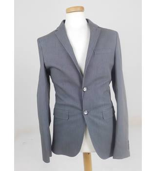 "M&S Size 36"" Chest Mixed Grey Cotton Blended Jacket"