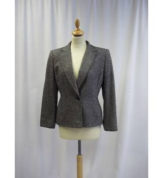 Country Casuals - Size: 12 - Black - Silk and Wool blend - Jacket