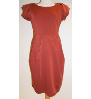 Apricot - Size: 14 - Orange - Knee length dress