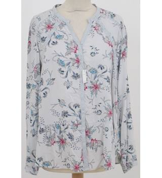 NWOT Per Una, size 12 grey mix floral blouse