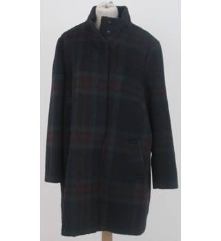 M&S: Size 16: Red check mix soft wool blend coat