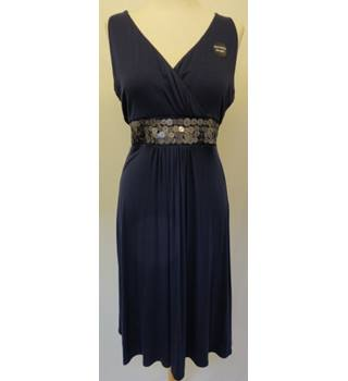 Moda at George - Size: 12 - Navy Blue - Empire Style Sleeveless Dress