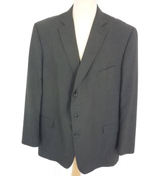 "M & S Size: Jacket, XXL, 50"" chest, reg fit & Trousers, 44"" W, 31"" L Grey Smart/Stylish  Polyester Blend Single Breasted Suit"
