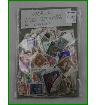650 world stamps, all different