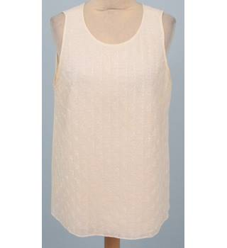 Laura Ashley - Size: 18 - White Silk Sequined Vest Top