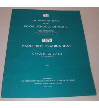 1976 Pianoforte Examinations - Grade III Lists A & B (Transitional)