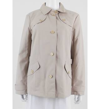 Marks & Spencer Classic Size 14 Ivory Tusk Beige Waterproof Coat