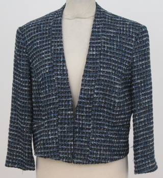 Phase Eight - Size: 14 - Royal Blue Tweed Blazer