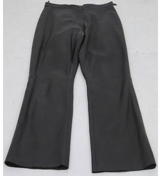 Patsy Seddon for Phase Eight - Size: 10 Brown leather trousers