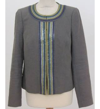 Boden - Size: 14 - Grey with sequence blazer