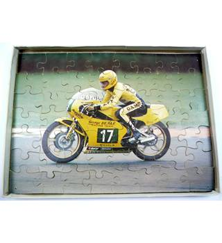 Vintage Wooden Motorcycle Jigsaw