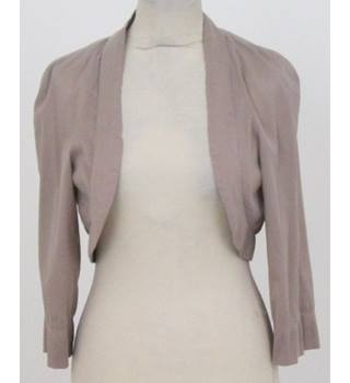 Vera Mont - Size: 10 - Beige Shrug with 3/4 Sleeves