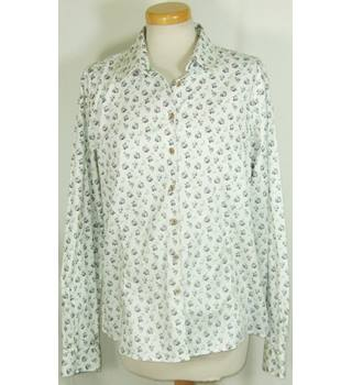 Musto size 16 ivory floral shirt
