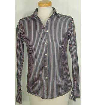 "Hobbs size 34"" bust grey striped shirt"