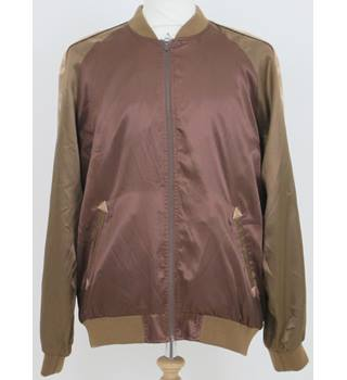 BNWT ASOS size: XL brown mix bomber jacket