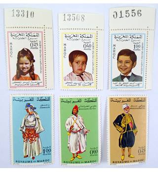 Packet-11-Morocco-UMM 1960s Multi-coloured