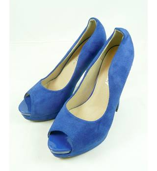 Exquily - Size: 4 - Blue - Peep Toe Shoes